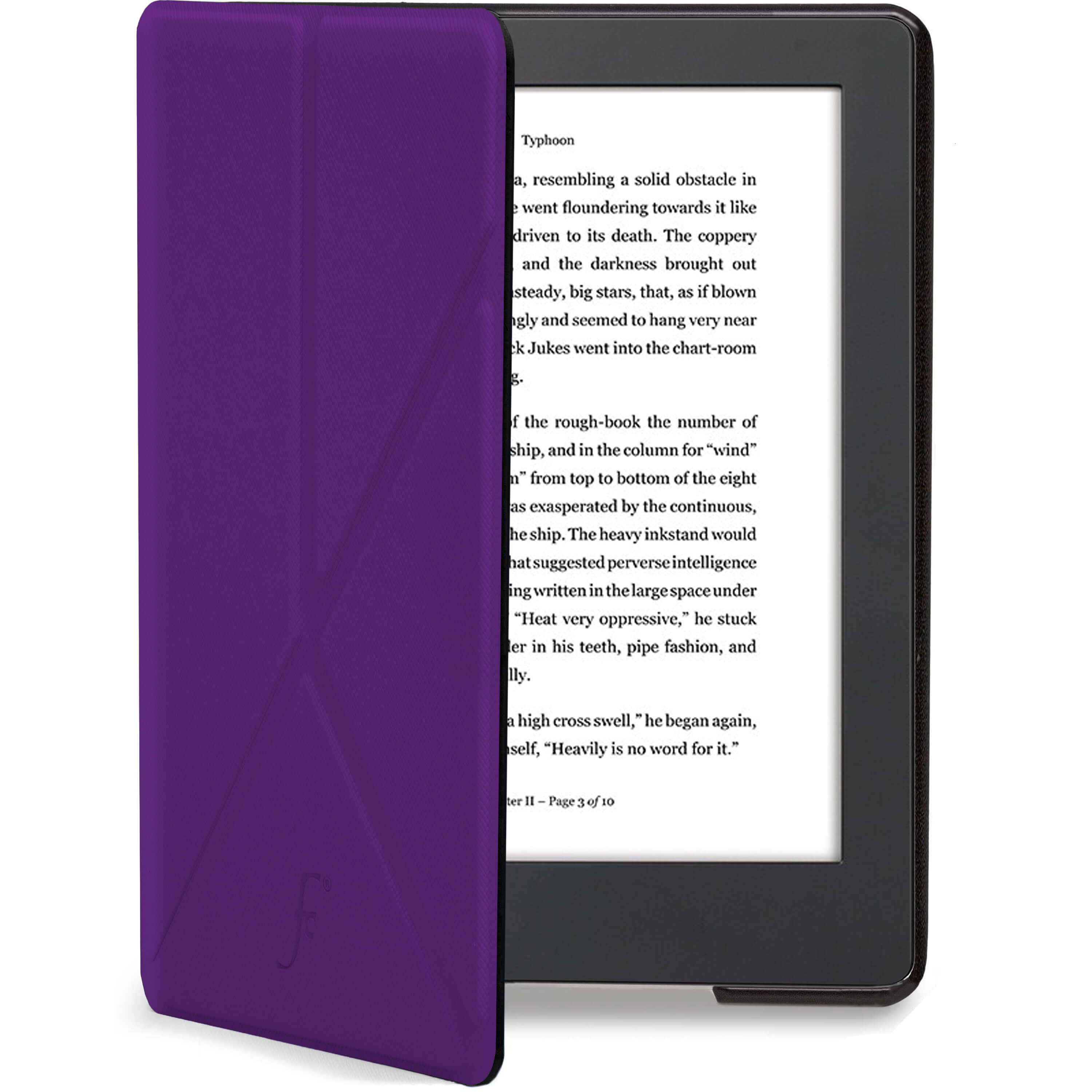 Forefront Cases® Kobo Aura H2O Edition 2 Origami Smart Case Cover Stand ( PURPLE) 62838350fa30