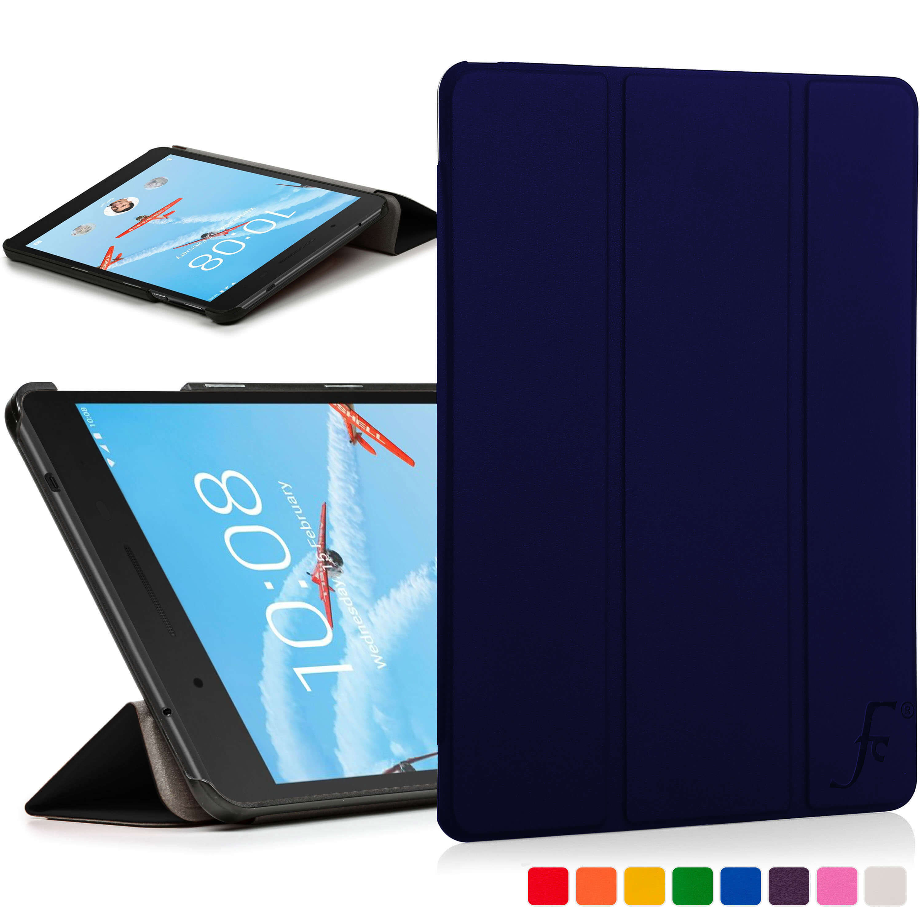 online store 1e1b8 a8d85 Forefront Cases® Lenovo Tab 7 Essential 7-Inch Folding Case Cover Stand in  PU Leather– Ultra Slim Lightweight with full device protection and Smart ...