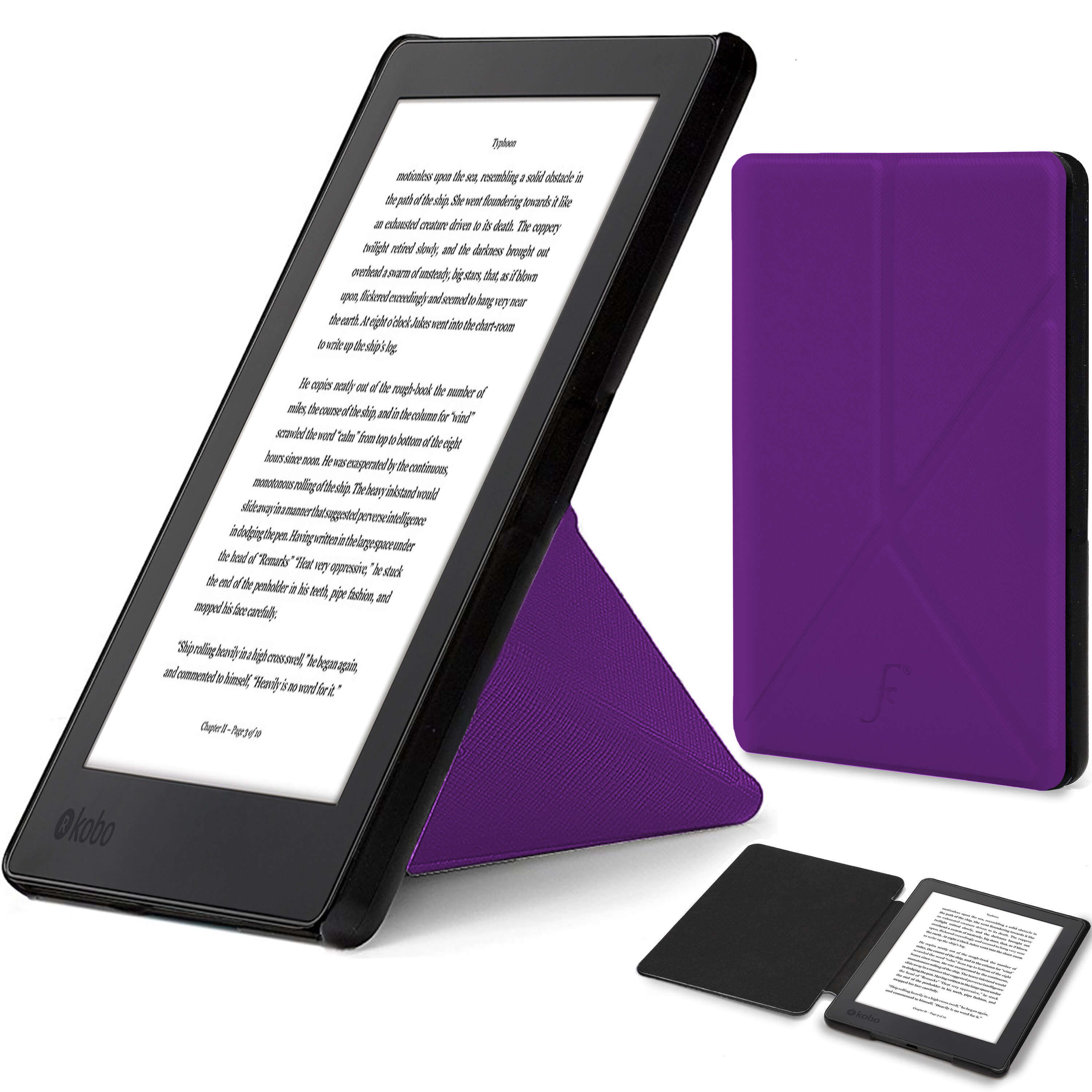 You re viewing  Forefront Cases® Kobo Aura H2O Edition 2 Origami Smart Case  Cover Stand (PURPLE) £39.99 £9.99 inc. edc3190f61f5