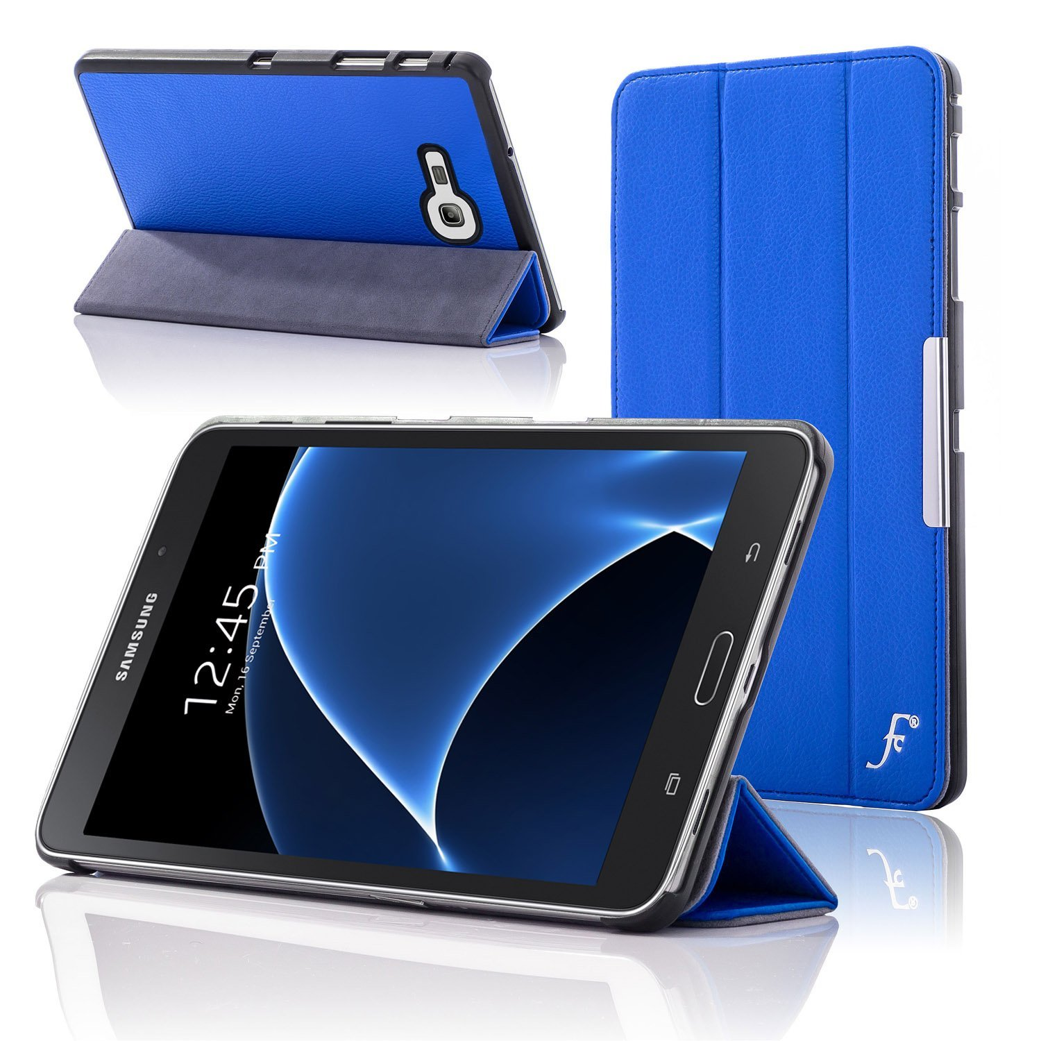 You re viewing Forefront Cases Samsung Galaxy Tab A 7 0 Tab J Tab J Max Leather Folding Smart Case Cover Stand BLUE £29 99 £8 99 inc
