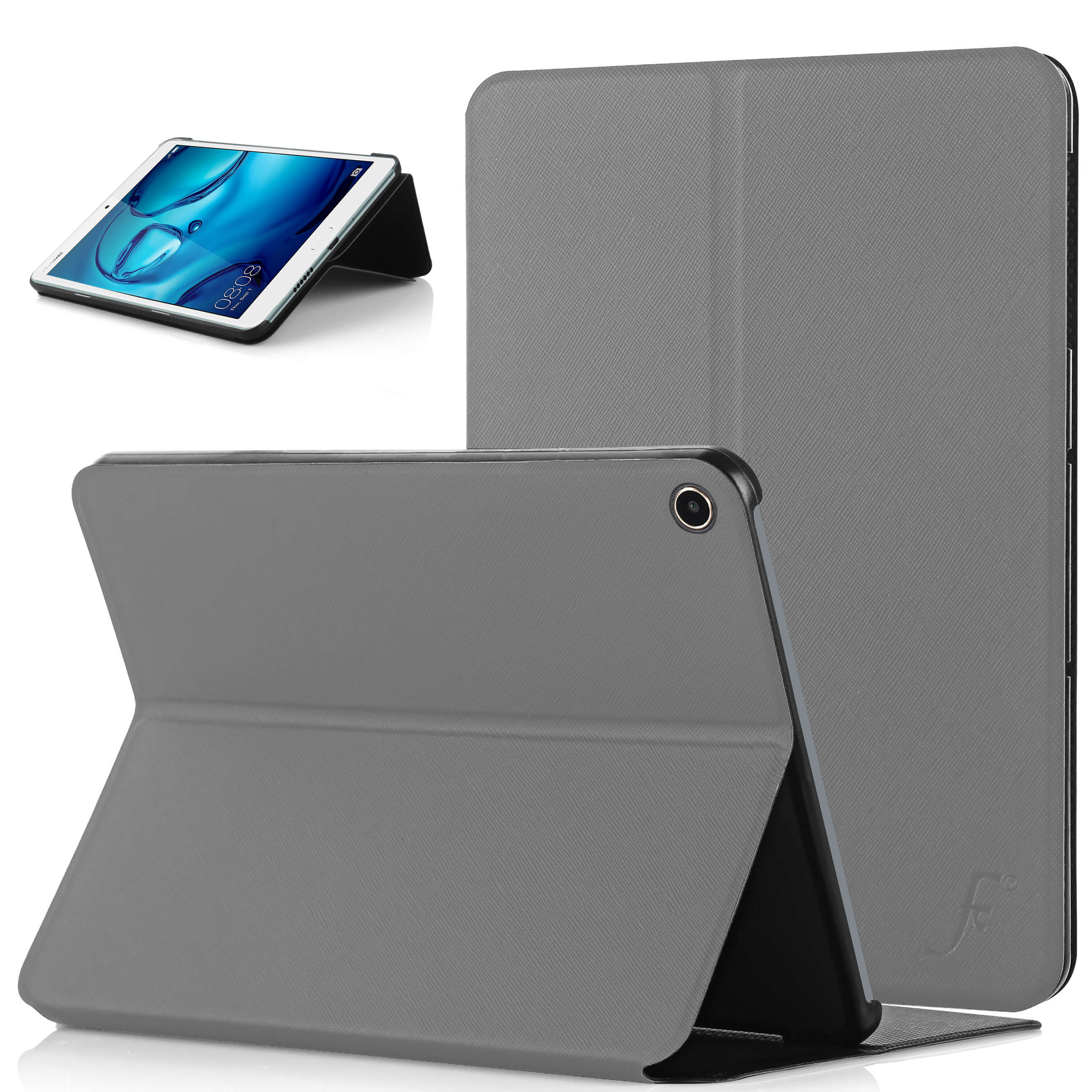on sale aea53 fe0bb Forefront Cases® Huawei MediaPad M3 Lite 8 8-Inch Clam Shell Smart Case  Cover Stand (GREY)
