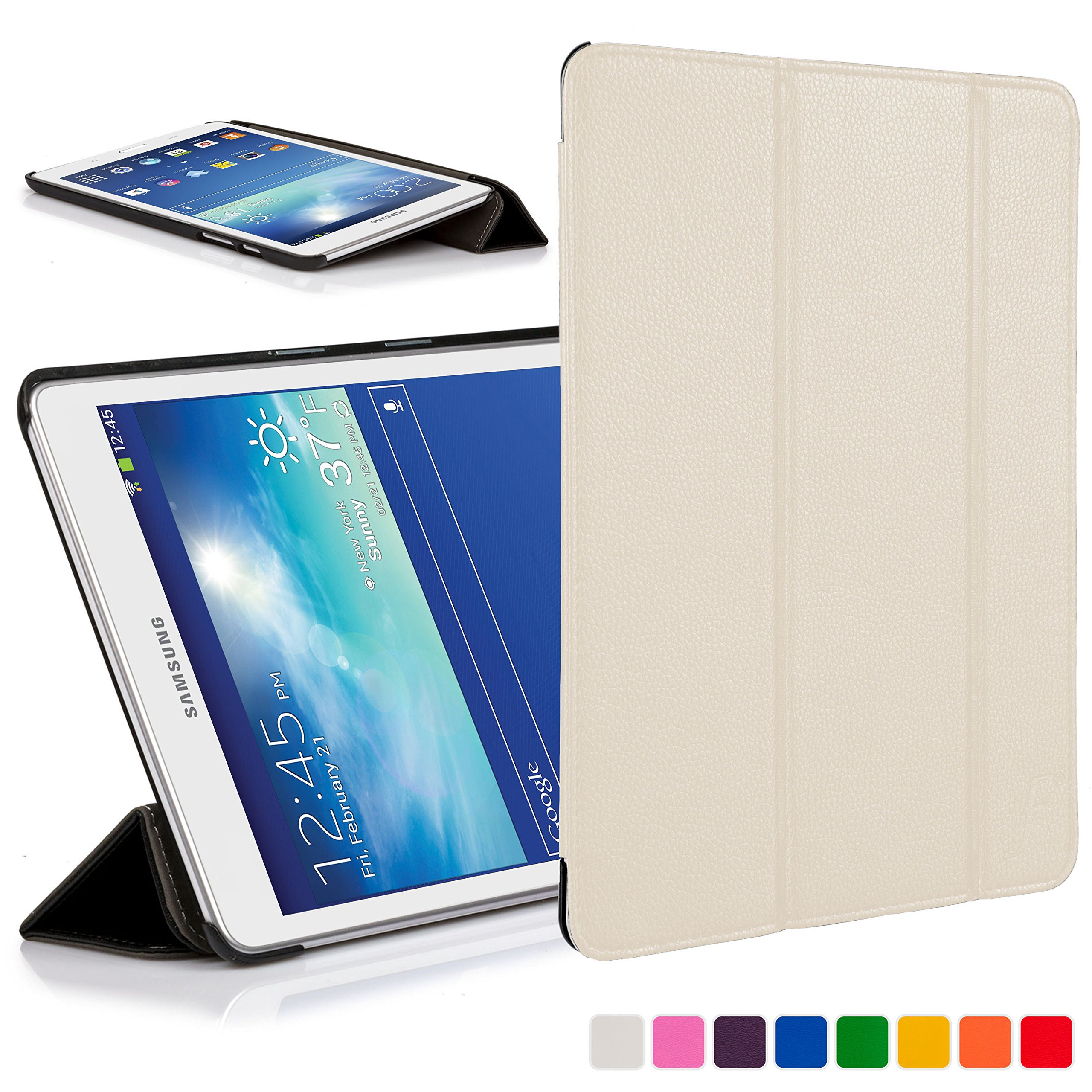 a6f675a44e9 You re viewing  Forefront Cases® Samsung Galaxy Tab 3 Lite 7.0   Tab E Lite  7.0 Leather Folding Smart Case Cover Stand (WHITE) £29.99 £8.99 inc.
