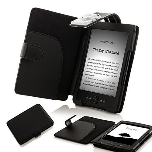 Forefront Cases® Amazon Kindle 4 / Kindle 5 Shell Smart Case Cover with LED  Light (BLACK)