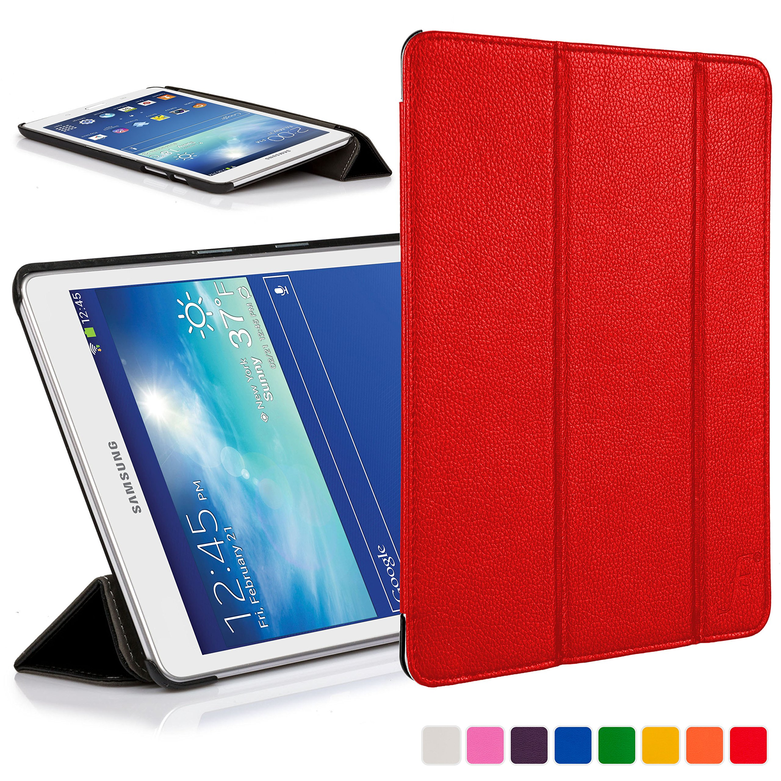 fd1d9381fa0 You re viewing  Forefront Cases® Samsung Galaxy Tab 3 Lite 7.0   Tab E Lite  7.0 Leather Folding Smart Case Cover Stand (RED) £29.99 £8.99 inc.