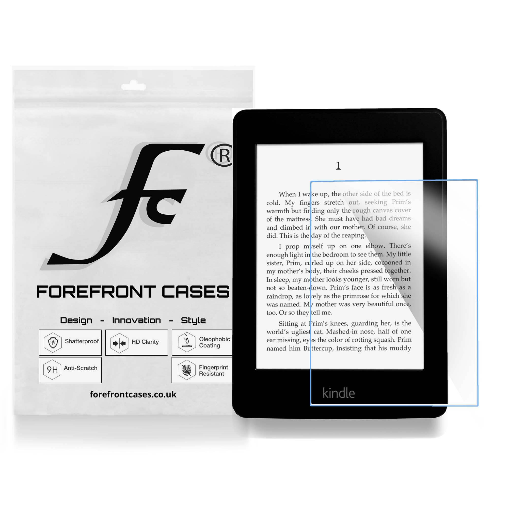 Forefront Cases® Amazon Kindle Paperwhite HD Tempered Glass Screen  Protector Guard