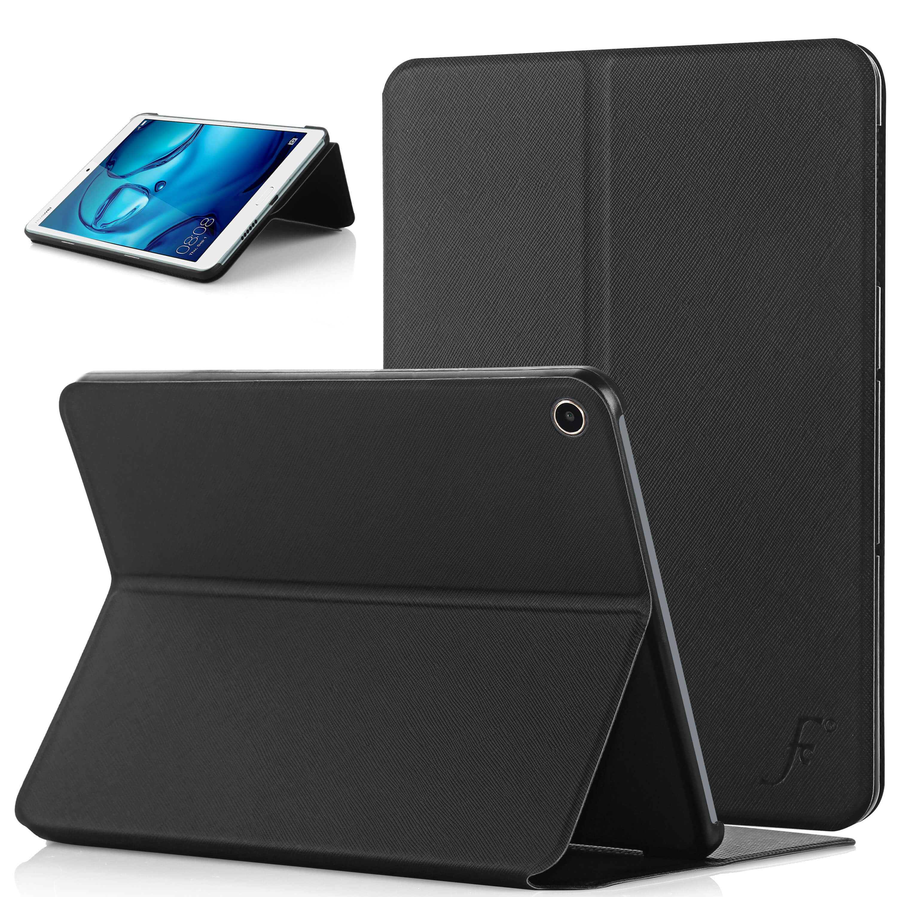 on sale 705ba 7f8f6 Forefront Cases® Huawei MediaPad M3 Lite 8 8-Inch Clam Shell Smart Case  Cover Stand (BLACK)