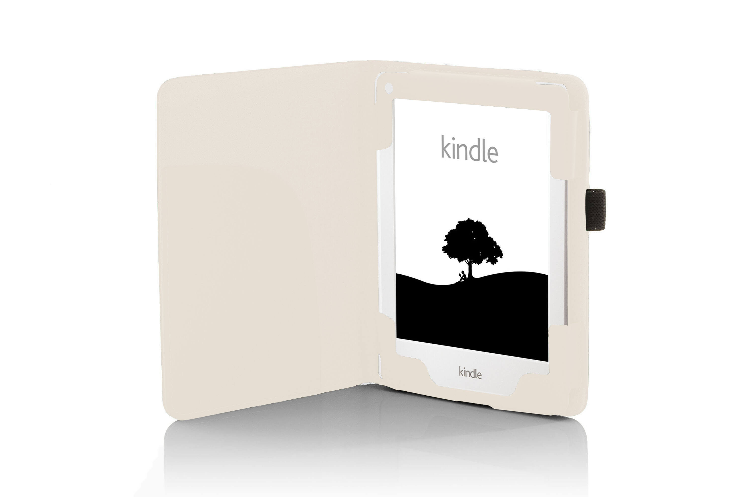 8th Generation, 2016 Protective and Form Fitting Case for All-New Kindle - White Cover for Kindle