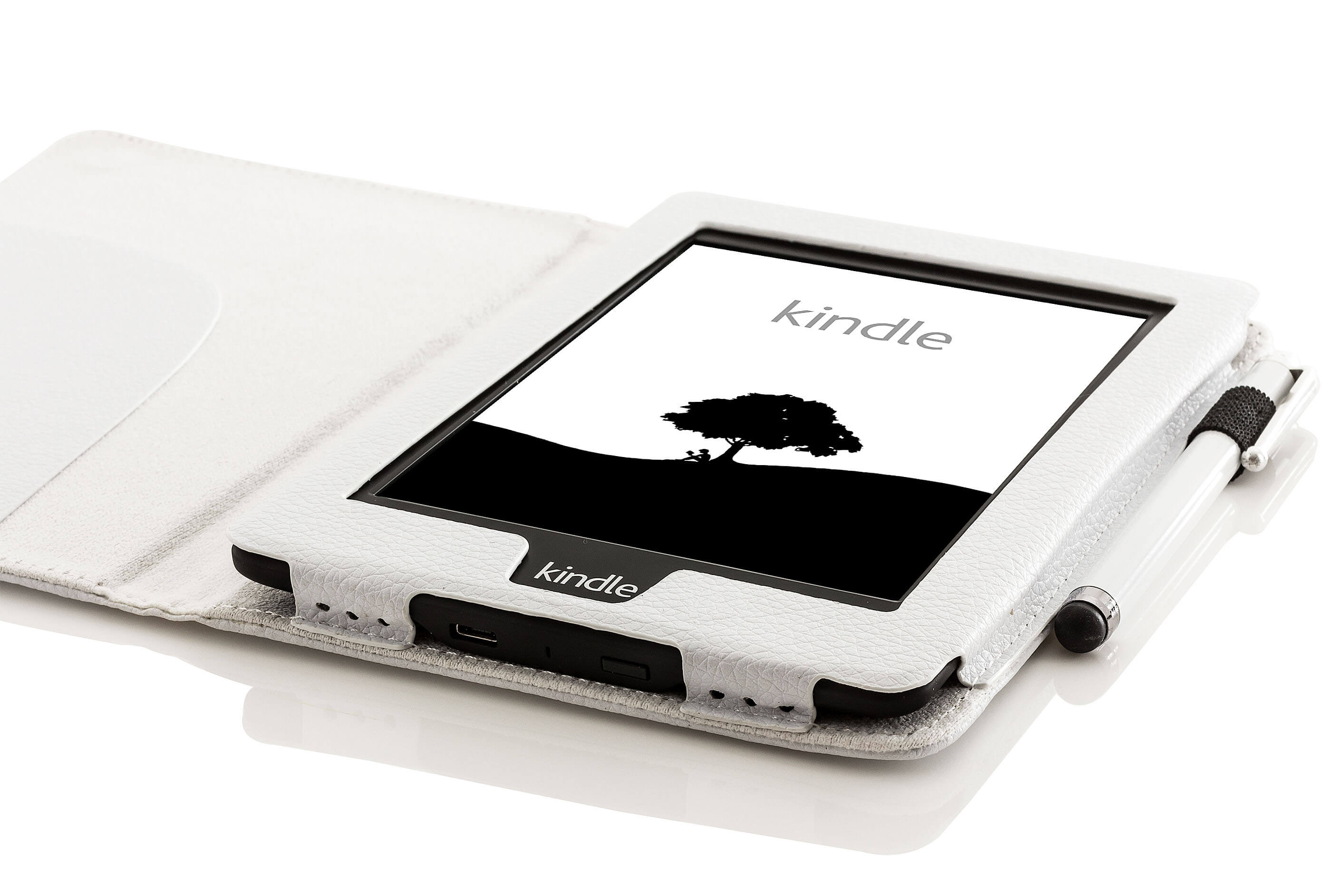 Forefront Cases® Amazon Kindle Paperwhite Shell Smart Case Cover (WHITE)