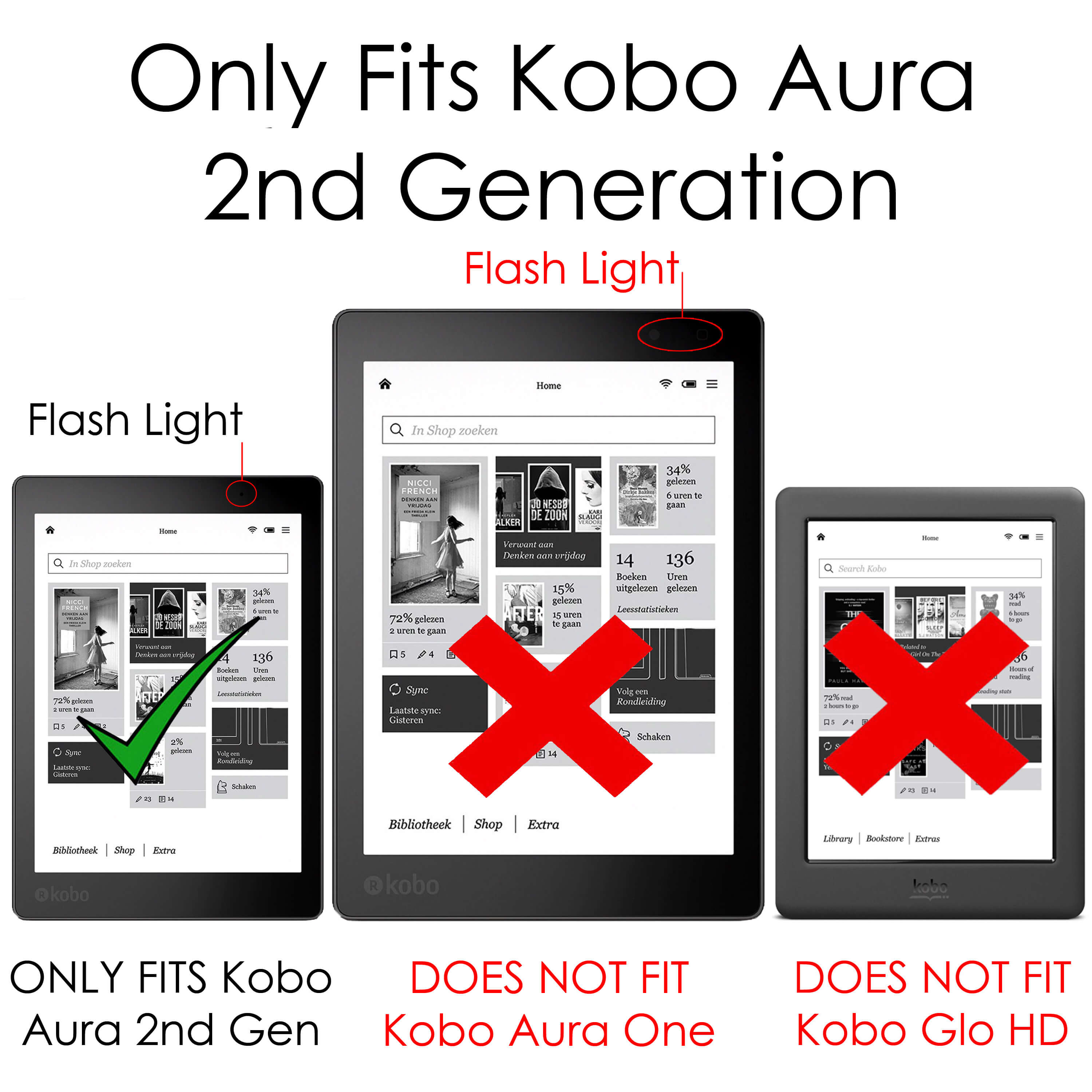 Forefront Cases® Kobo Aura Edition 2 Origami Smart Case Cover Stand