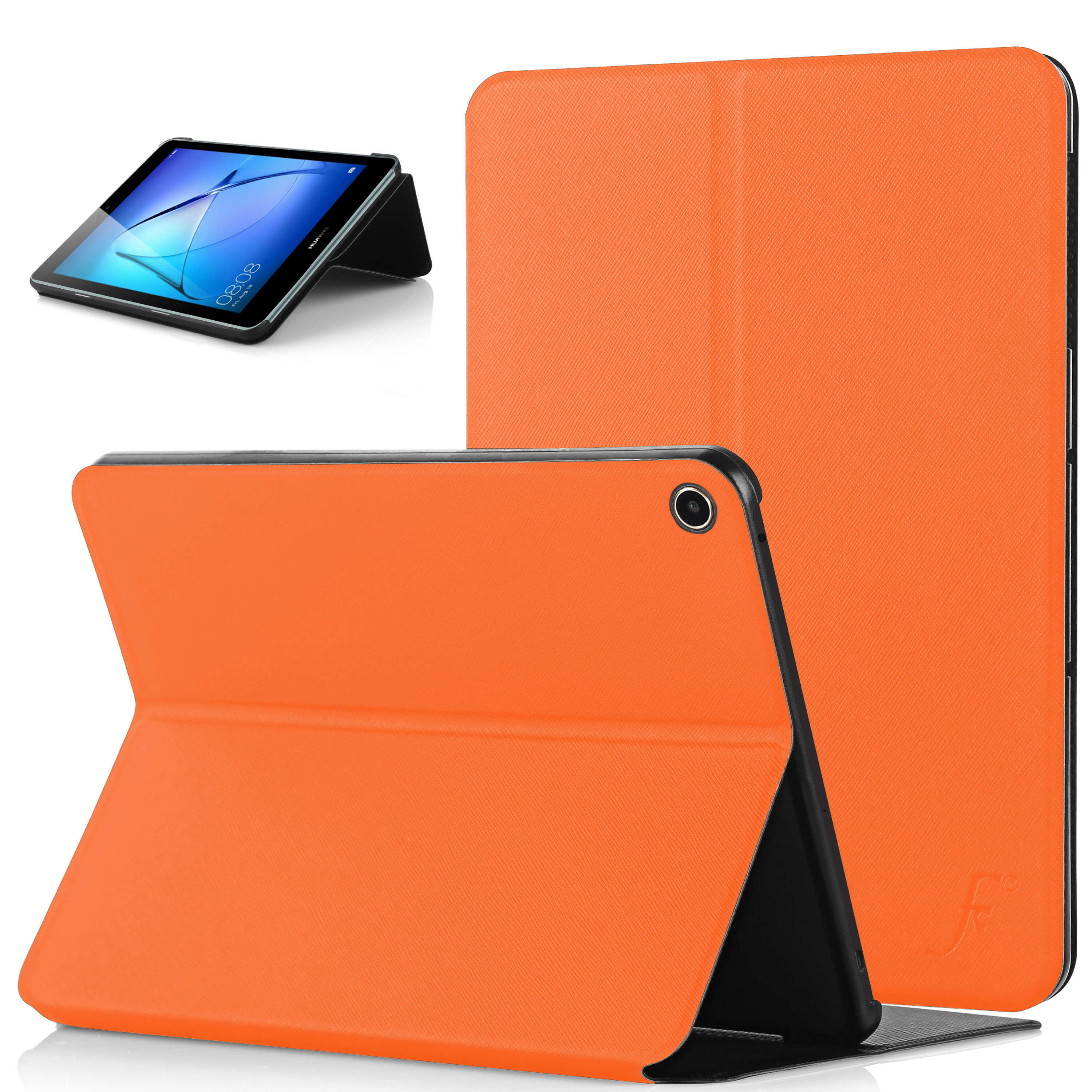 pretty nice f85dd db48c Forefront Cases® Huawei MediaPad T3 7 7-Inch Clam Shell Smart Case Cover  Stand (ORANGE)