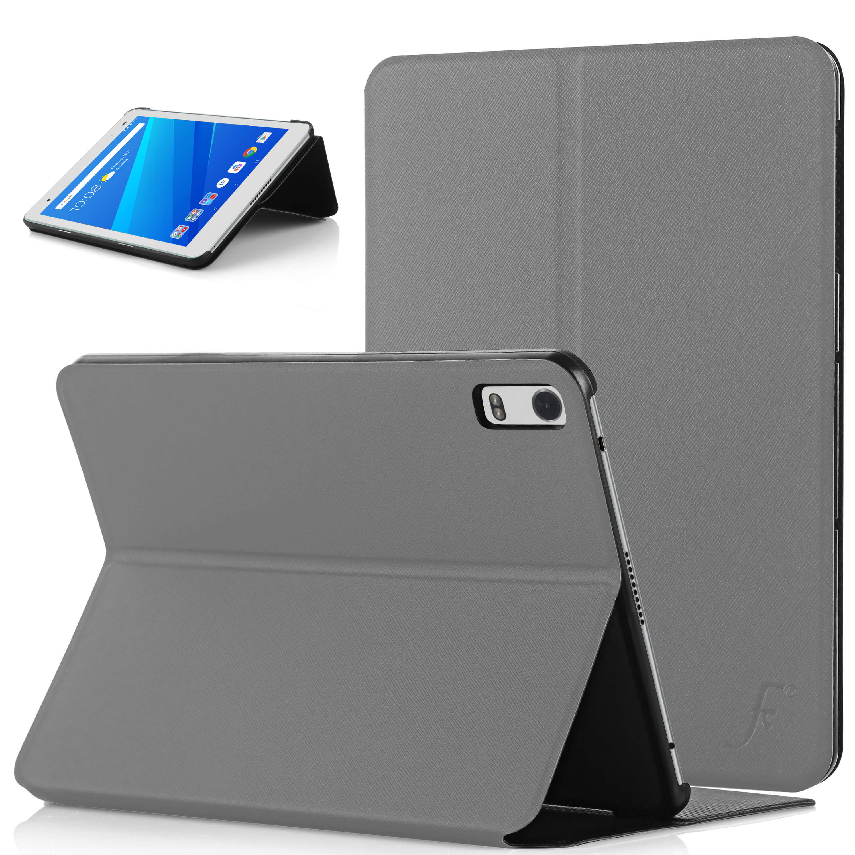 size 40 fe2e4 93973 Forefront Cases® Lenovo Tab 4 8 Plus Clam Shell Smart Case Cover Stand  (GREY)