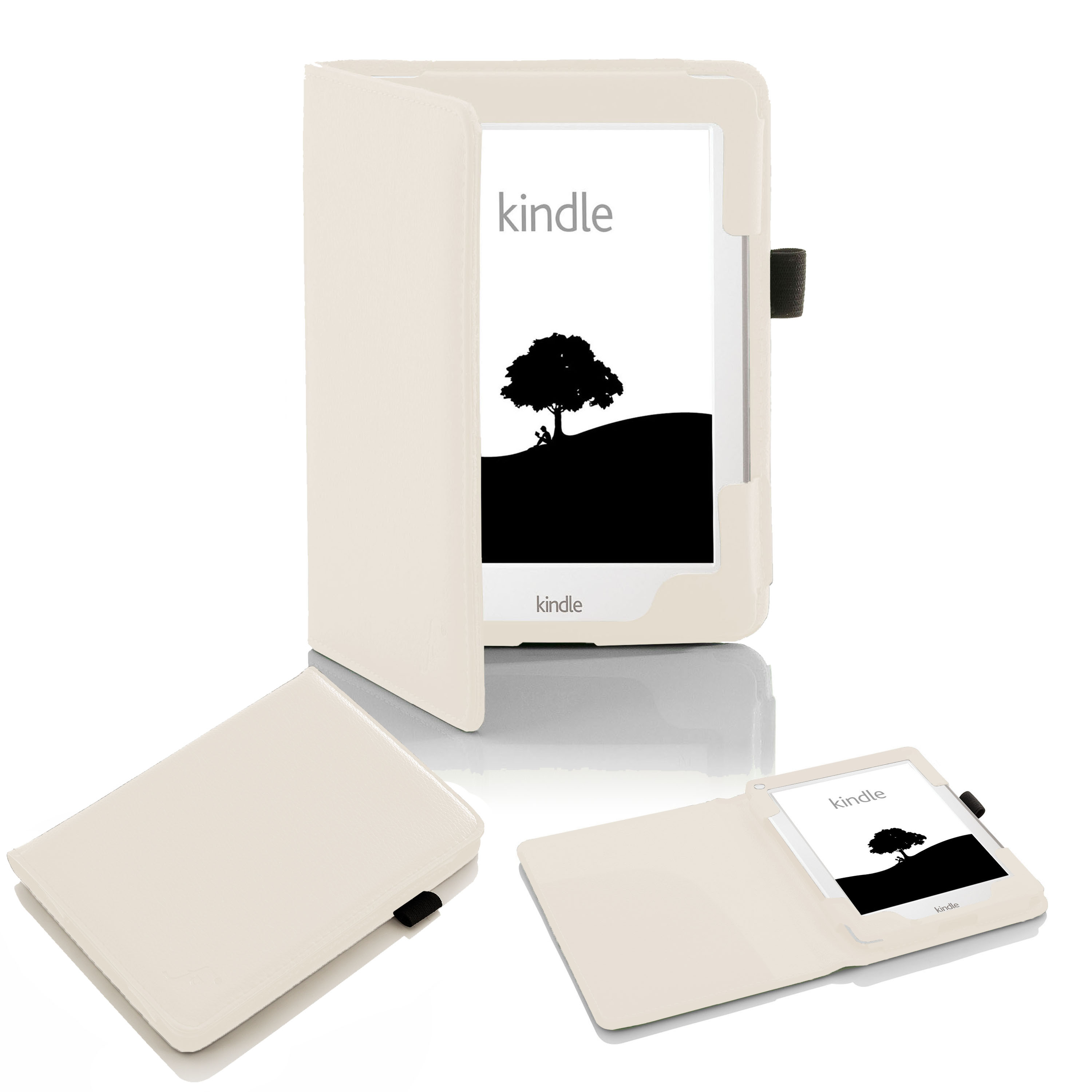 Forefront Cases® Kindle 8th Gen 2016 Shell Smart Case Cover (WHITE)