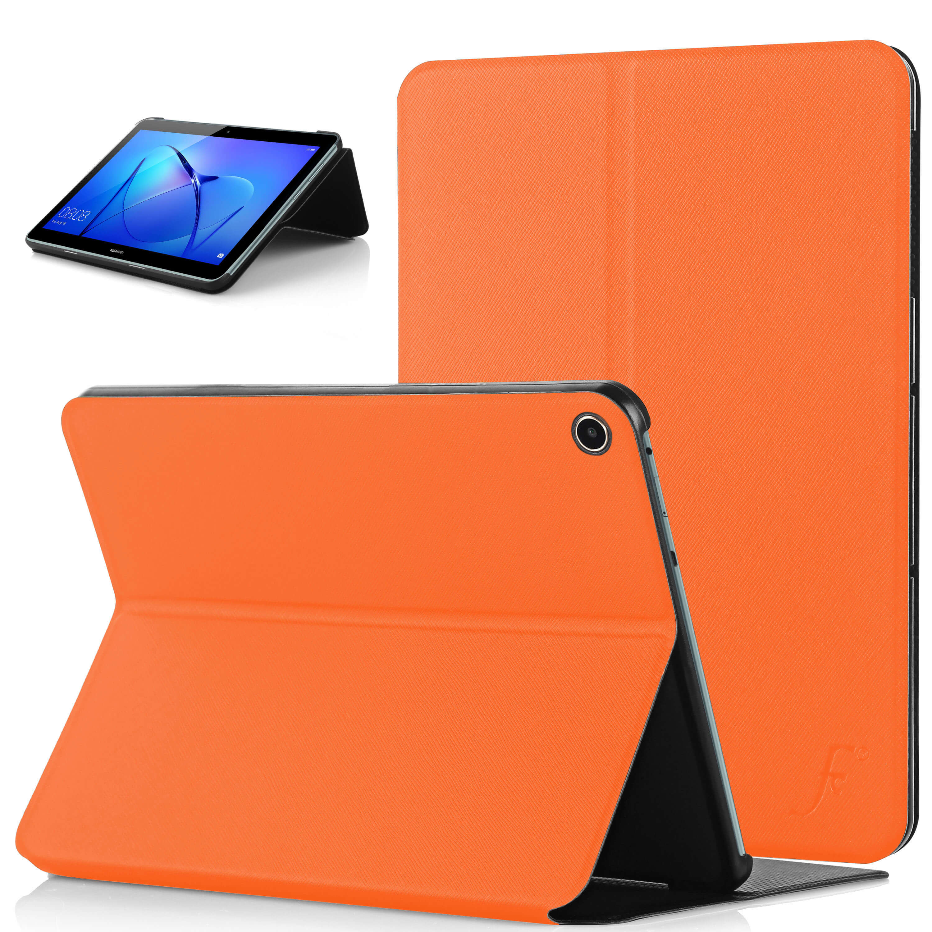 new products 1e3f2 e901e Forefront Cases® Huawei MediaPad T3 10 / Huawei MediaPad T3 9.6 Clam Shell  Smart Case Cover Stand (ORANGE)