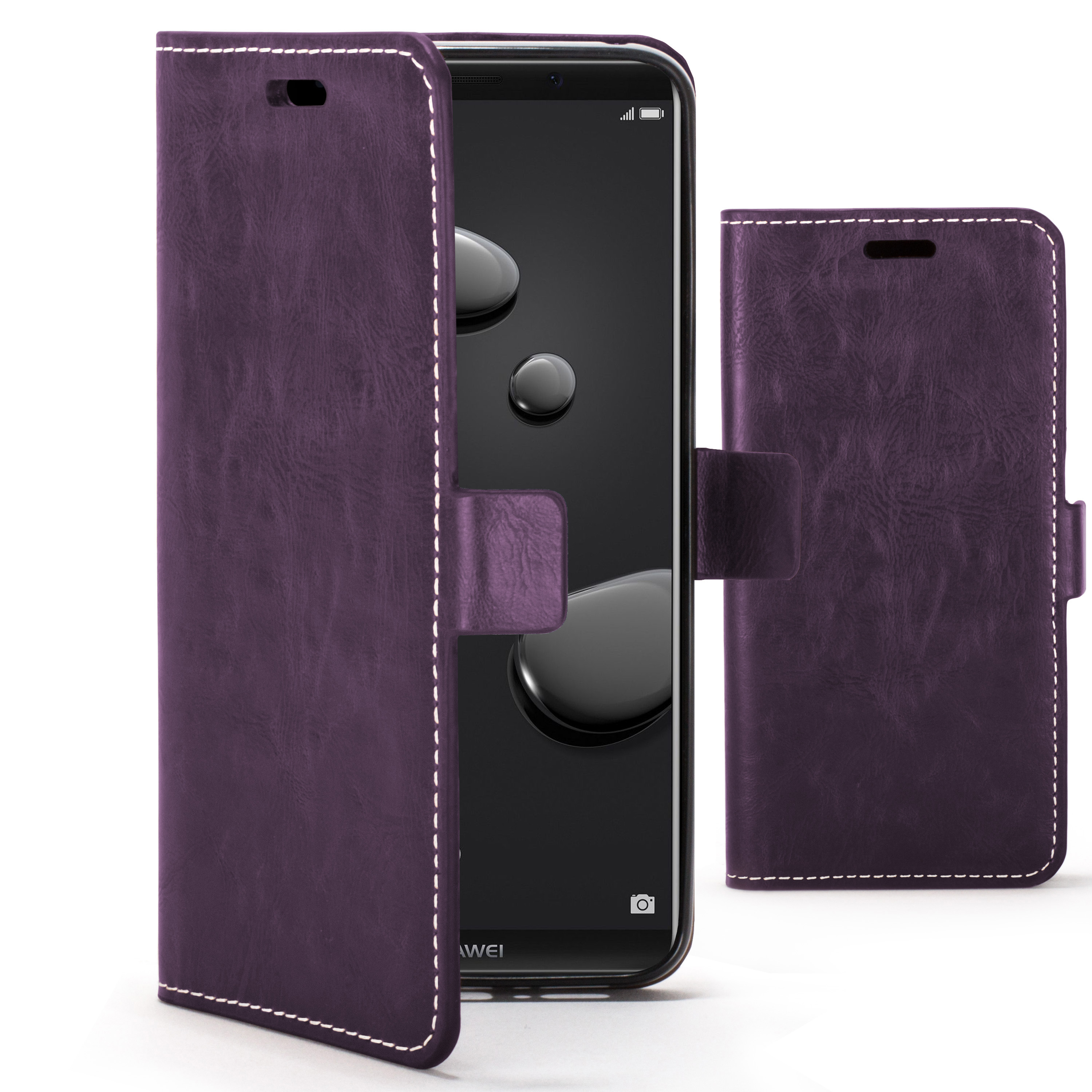 best service 31d62 e834e Forefront Cases Huawei Mate 10 Pro Premium Handmade PU Leather Case Cover |  Purple