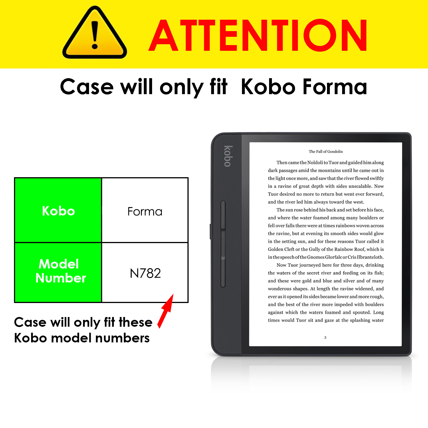 Forefront Cases Kobo Forma Smart Case Shell Cover Stand | Gold