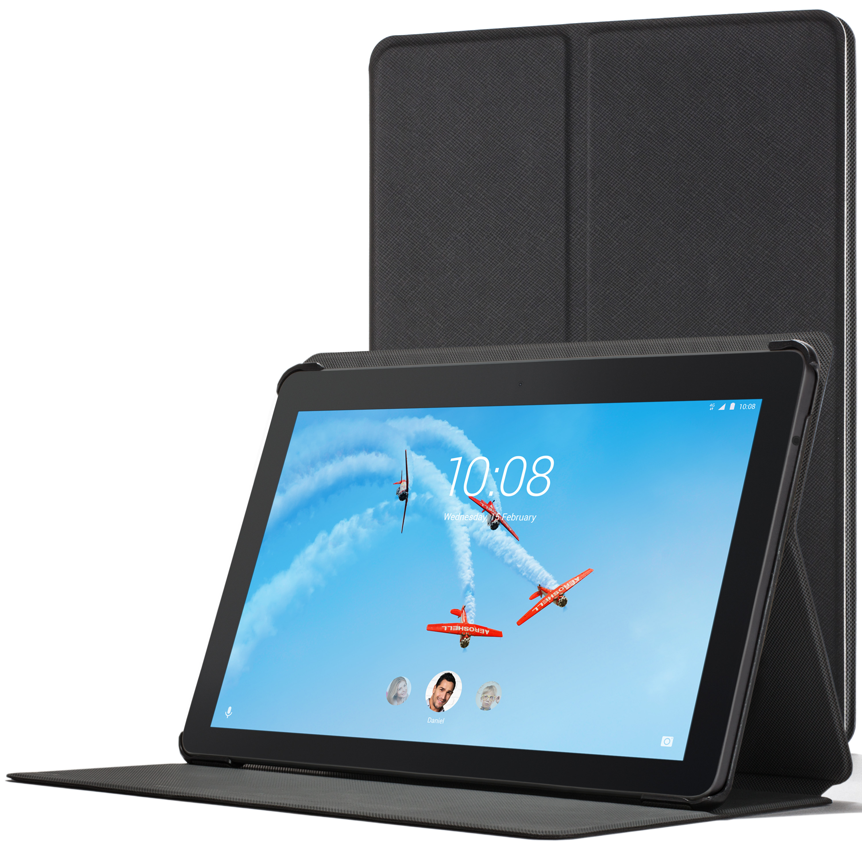 the latest efb87 87e8f Forefront Cases Lenovo Tab E10 Cover Lightweight Slim Case Stand | Black