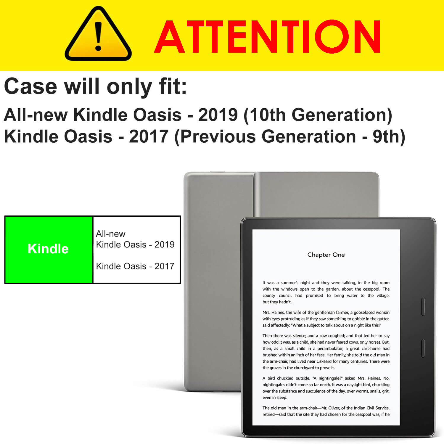 Forefront Cases Kindle Oasis 2019 Origami Case Cover Stand | Yellow