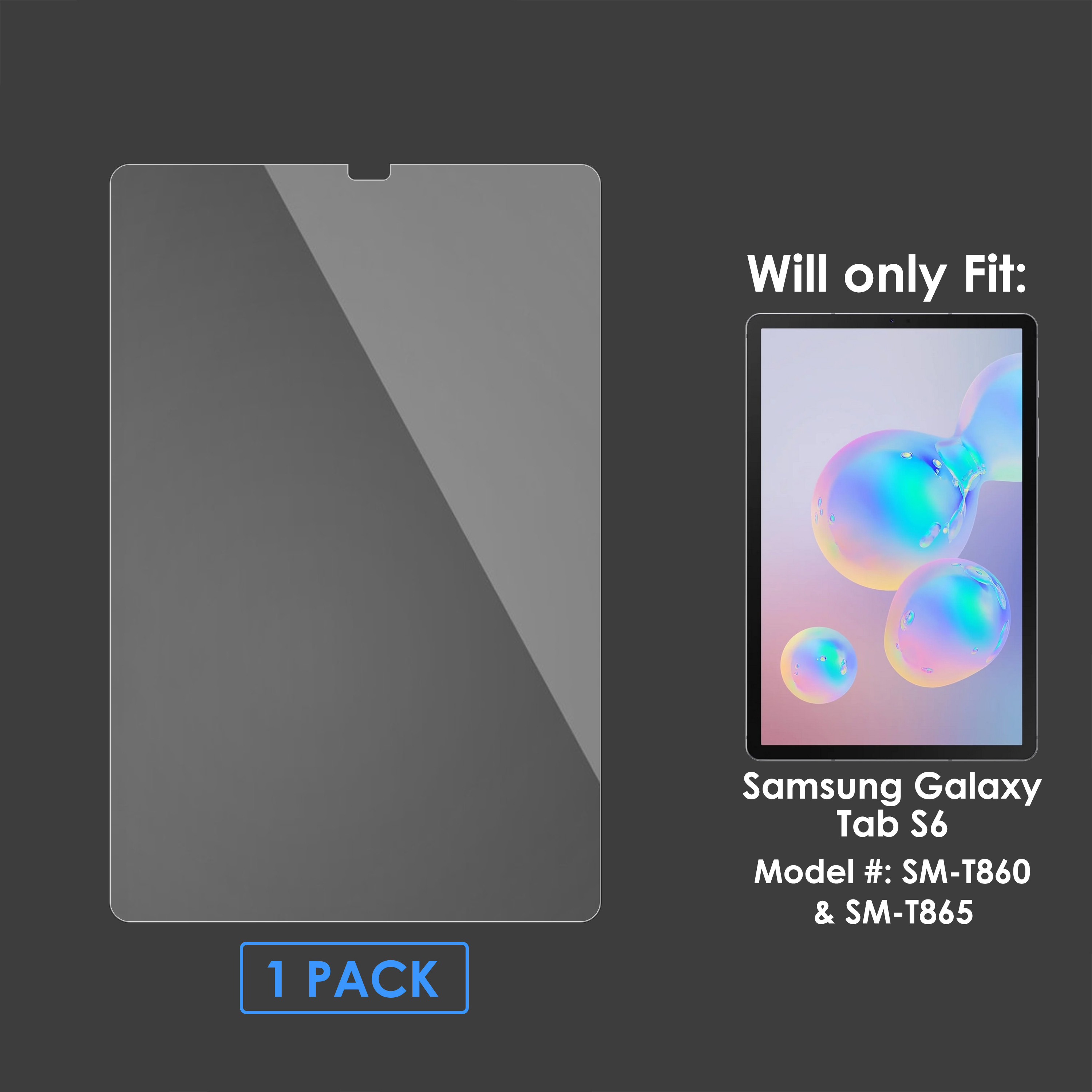 """2 Pack Galaxy Tab S6 Tempered Glass Screen Protector for Samsung Tab S6 10.5/"""""""